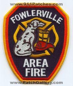 Fowlerville Area Fire Department Patch Michigan MI
