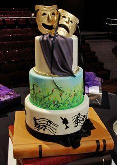 Theater Graduation Cake