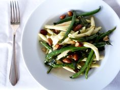 Green Beans, Almonds, Pasta, and Sage