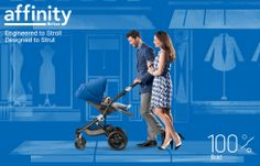 100% Bold - Britax Affinity Stroller with Sky Blue Color Pack #brilliant #stylish