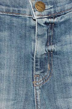 Current/Elliott - The Cropped Flip Flop Frayed Low-rise Flared Jeans - Mid denim - 30