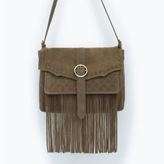 LEATHER MESSENGER BAG WITH FRINGES - New this week - Woman - COLLECTION AW15 | ZARA United
