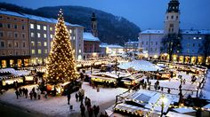 The squares and streets of Salzburg, Austria, come alive with the sound of Christmas music!