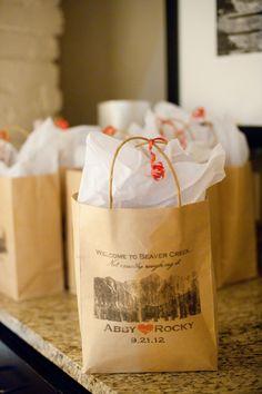 Welcome Bag Ideas Colorado Wedding