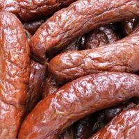 Recept : Moravské klobásy | ReceptyOnLine.cz - kuchařka, recepty a inspirace Sausage, Meat, Cooking, Sausage Recipes, Syrup, Kitchen, Sausages, Brewing, Cuisine