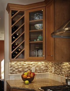 Awesome article about updating your cabinets. - LOVE the wine rack!