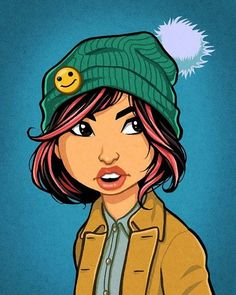 #cameronmark #art #design #illustration #drawing #beenie #toque #girl