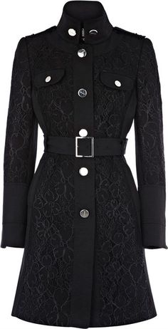 Karen Millen Lace Trench Coat: