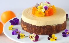Oranges, coconut and almond flour, and lemon come together to create this beautiful dessert.