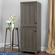 South Shore Hopedale Gray Maple Narrow Storage Cabinet 10322 - The Home Depot Cube Organizer, Cube Storage, Storage Spaces, Storage Cabinets, Tall Cabinet Storage, Cottages By The Sea, Narrow Cabinet, Round Shelf, Decorative Mouldings