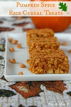 Mr and Mrs P: Pumpkin Spice Rice Cereal Treats