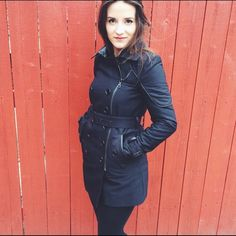 """Sam Edelman Coat Size XS. True to size. Model 5""""4. Double breasted zipper. Great condition! Dry cleaned. No trades, offers welcome. Sam Edelman Jackets & Coats"""