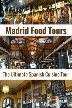 "Learn about real Spanish cuisine, its history, and taste some of the best food Madrid has to offer on a cultural walking tour with ""Madrid Food Tour"" in Spain. Madrid Food, At Madrid, Spain Madrid, Spanish Cuisine, Spanish Food, Europe Travel Tips, Spain Travel, European Travel, Travel Guide"