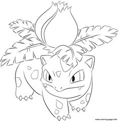 002 ivysaur pokemon coloring pages printable and coloring book to print for free. Find more coloring pages online for kids and adults of 002 ivysaur pokemon coloring pages to print. Ninjago Coloring Pages, Cartoon Coloring Pages, Coloring Books, Free Printable Coloring Pages, Free Coloring Pages, Pokemon Coloring Sheets, Pokemon Sketch, Pikachu Art, Sketches