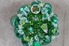 St. Patrick's Day Wreath, Deco Mesh Wreath, Deco Mesh St. Patrick's Day Wreath, Green and White Wreath, St. Patty's Day Wreath, Home Decor by southerncharmflorals. Explore more products on http://southerncharmflorals.etsy.com