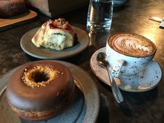 Delicious Cappucino and Yummy Treats at Small-fry in Hobart Tasmania #FoodWaterShoes