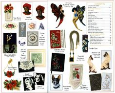 Jill Oxton's Cross Stitch & Bead Weaving Issue 97 contents page. Issue 97 is available from Australian Needle Arts