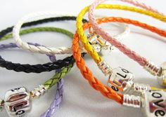 Mixed Color Leather European Bracelets.