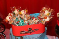 Clown cake pops at a circus birthday party! See more party ideas at CatchMyParty.com!
