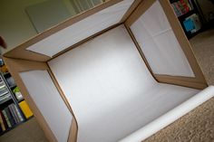 GREAT tutorial for making a very inexpensive lightbox for taking good photographs of food or other objects.