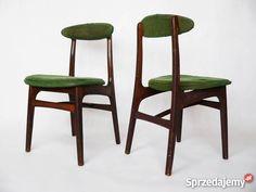Witam mam do sprzedania parę krzeseł typ 200-190   Projektant: Rajmund Teofil Hałas   Produkcja lata 60-te  Producent: Zjednoczenie Przemysłu Meblarskiego, GłuchołaskieFabryki Mebli –Głuchołazy   Drewno zdrowe, konstrukcja stabilna, tapicerka i powłoki lakiernicze do renowacji.   Stan przedmiotu przedstawiają załączone zdjęcia   Wymiary:  Wys. max - 77 cm  Szer. max - 42cm  Gł. max - 48cm  Wys. max siedziska - 45cm   Preferuję odbiór osobisty  ew. przesyłka kurierem po wpłacie na konto…