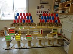 Extraordinary Classroom: Did they Have a Plan? Block Center Preschool, Block Area, Construction Area, Block Play, Kindergarten Science, Learning Spaces, Baby Center, Classroom Fun, Reggio Emilia