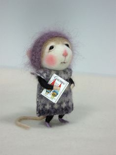 Dressed Mouse/Bunny Class  Needle Felting Class to by barby303, $45.00 - too cute for words!