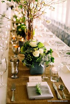love these flowers for tables