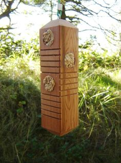 Woodpecker Feeder From Reclaimed Cedar, With Hanging Cable And 6 Feeding…