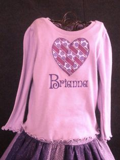 Infant Toddler Girls Woven Ribbon Heart Long or by BeeBeesBoutique, $18.00