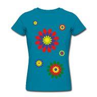 T-Shirts ~ Frauen T-Shirt von American Apparel ~ flower power 01