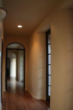 Strawbale hallway- Light reflects