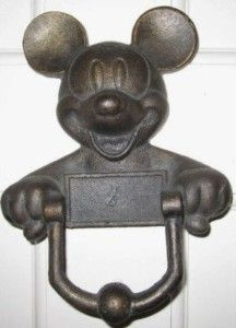 Image detail for -Vintage Mickey Mouse Cast Iron Door Knocker (RARE) For Sale | Shop ...: