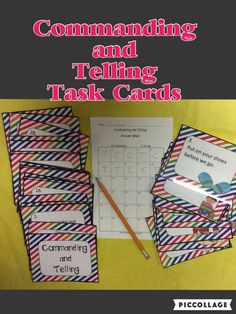I used these task cards to reinforce commanding and telling sentences with my students.  They worked great!