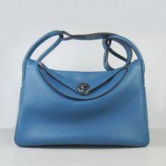 87494ce127e6 Hermes Lindy 34 with Silver Hardware (Blue) via Polyvore Replica Handbags,  Hermes Handbags