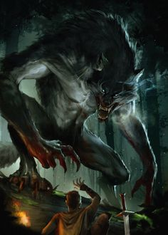 Amazing work from Monsters Rpg, Cool Monsters, Dark Creatures, Mythical Creatures Art, Fantasy Monster, Monster Art, Dark Fantasy Art, Fantasy Artwork, Werewolf Art