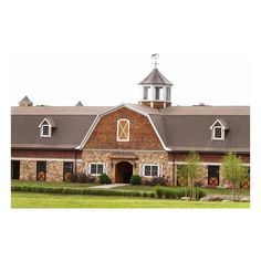 Large Barns – Large Horse Barns | KingBarns.com ❤ liked on Polyvore