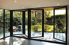 Bi folding doors supplied and fitted by professional Sheffield builders. Aluminium and PVCu bi folding doors. Open your space, bring the outdoors in. Double Glazed Window, Double Glass, Folding Doors, Folding Glass Patio Doors, House Extensions, Interior Barn Doors, Architecture, Windows And Doors, French Doors