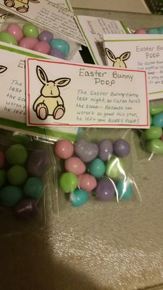 Easter Bunny Poop craft