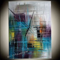Modern Art Abstract Painting Original Painting by largeartwork