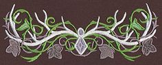 Elven Court Antlers Feature - Thread List   Urban Threads: Unique and Awesome Embroidery Designs