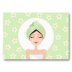 Beauty salon or spa business card