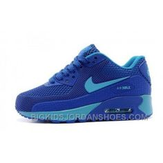 314291ab38 Newest Nike Air Max 90 Kids Shoes Children Sneakers Online Store Blue  Discount