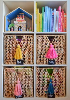 tassel roundup – A girl and a glue gun – Kallax Ideas 2020 Toy Rooms, Girl Decor, Little Girl Rooms, Awesome Bedrooms, Kid Spaces, Girls Bedroom, Ikea Girls Room, Preteen Girls Rooms, Tween Girls