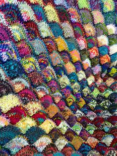 Want to create a dynamic, colorful, ever changing scrap sock yarn blanket that keeps you going?
