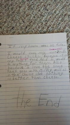 This 8-year old who professed his one true love in this essay. | 22 Kids Who Have Their Priorities Straight