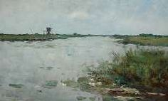 Mesdag-van Calcar G., Plas bij Kortenhoef, olieverf op paneel 31,2 x 50 cm.