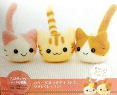 Kit japonais 3 chats feutrage à l'aiguille -15%