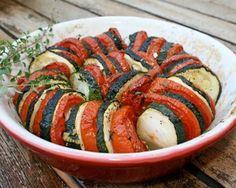 Roasted zucchini tomato pasta vegetable