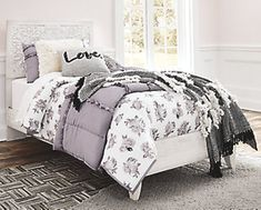 Ashley Furniture Paxberry Full Panel Bed with Made of engineered wood and engineered veneers,Includes headboard, footboard and rails,Headboard with adjustable height Full Headboard, Panel Headboard, Panel Bed, Queen Headboard, Soft Bed Sheets, Bed Sheet Sets, Bedroom Sets, Girls Bedroom, Bedrooms